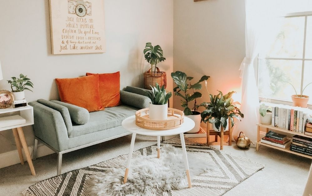 how to mix and match rugs in a studio apartment