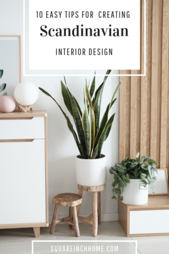 how to create Scandinavian interior design in small spaces