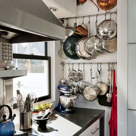 kitchen storage ideas for small kitchens wall mounted pot rack
