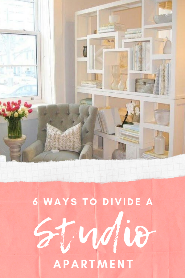 studio apartment dividers pinterest