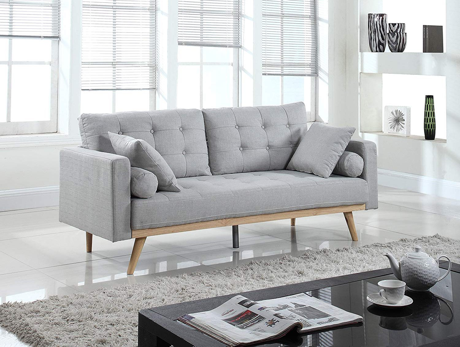 gray sofa for small spaces