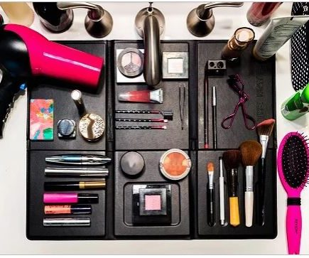 makeup organizer for small bathroom sink