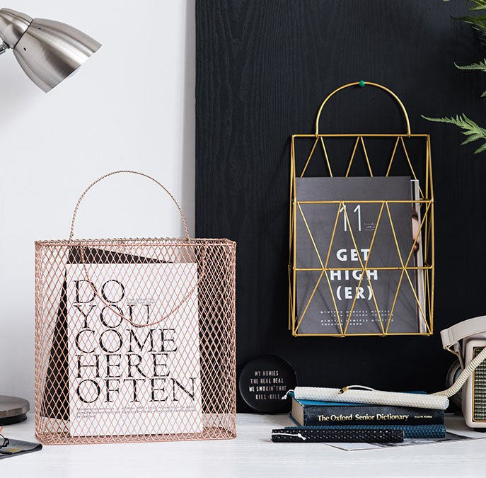decorative storage ideas wire basket