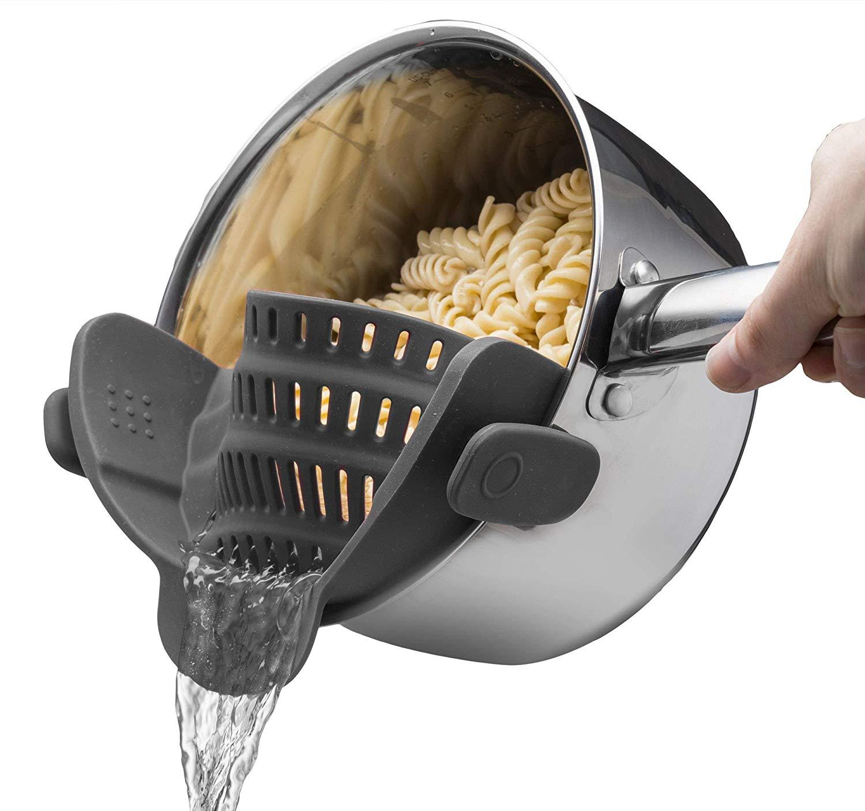 clip on colandar strainer for pots