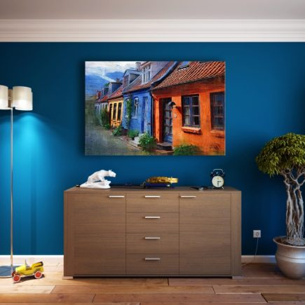 dark paint in small room. small space design rules you should break