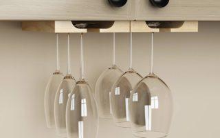 under cabinet hanging wine glass storage rack