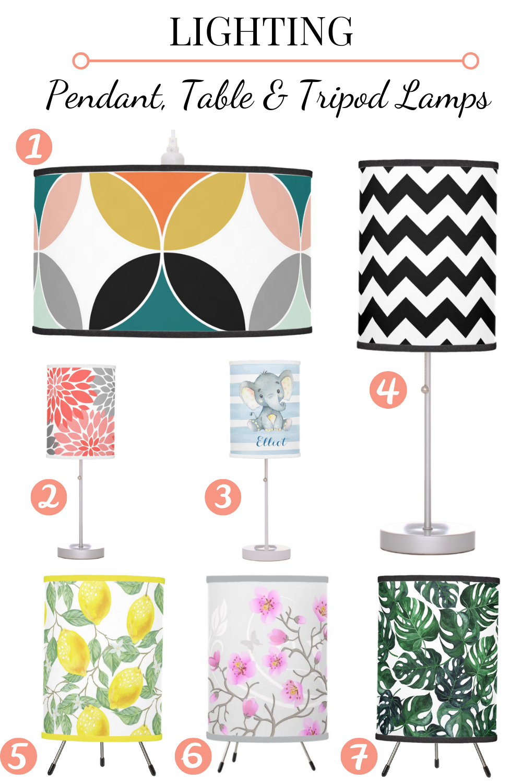 custom print on demand lamps