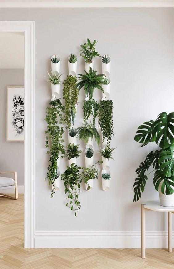 wall vessel planter garden