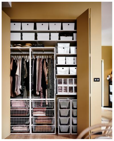 ikea closet storage rack and drawers