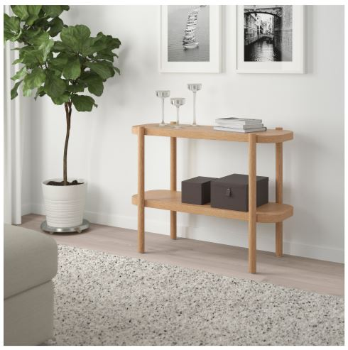 Ikea Listercy natural wood console table