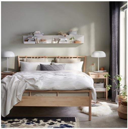 ikea natural wood bed frame for small spaces 2020 collection