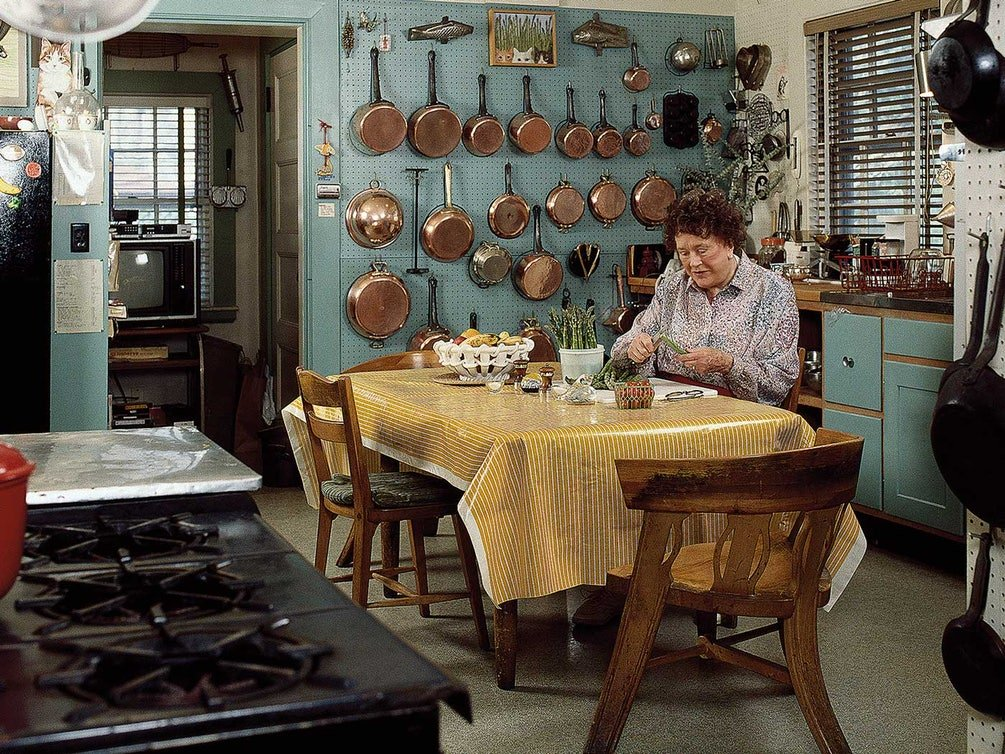 julia child's kitchen pegboard