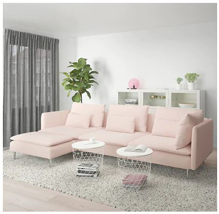 New pink ikea sectional sofa for small living room 2020 collection