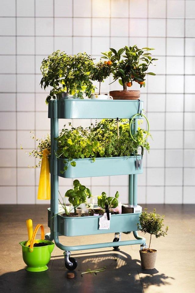 Ikea Raskog Utility Cart Garden