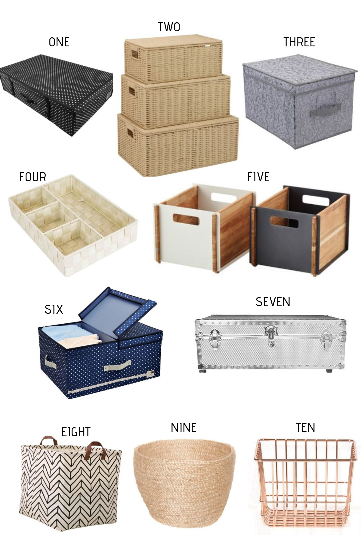 Under-bed storage boxes and bins for small bedrooms
