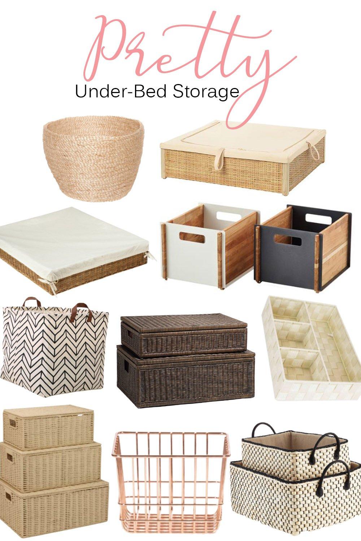 pretty decorative under bed storage
