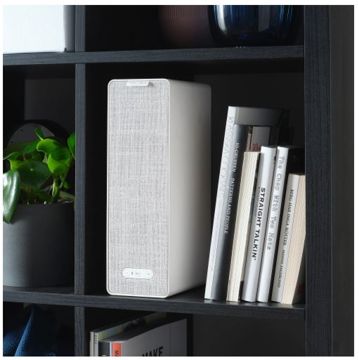 white wifi Bookshelf speaker from ikea small spaces 2020