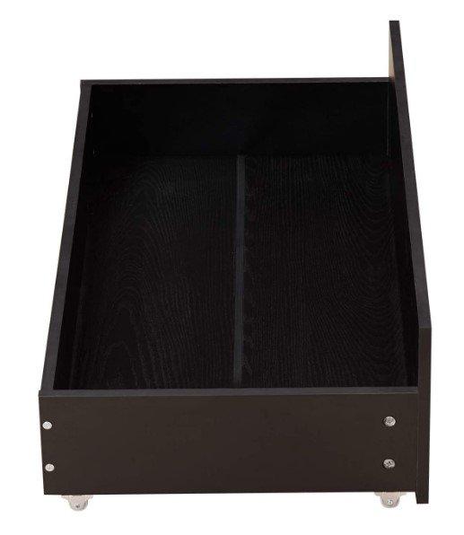 black wooden underbed drawer