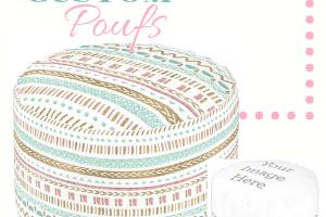 custom print on demand poufs