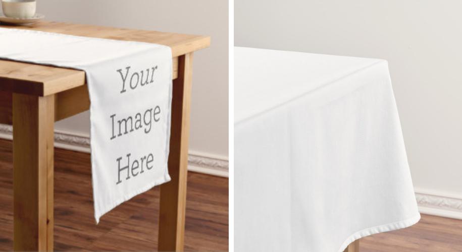 custom print table runners and table cloths