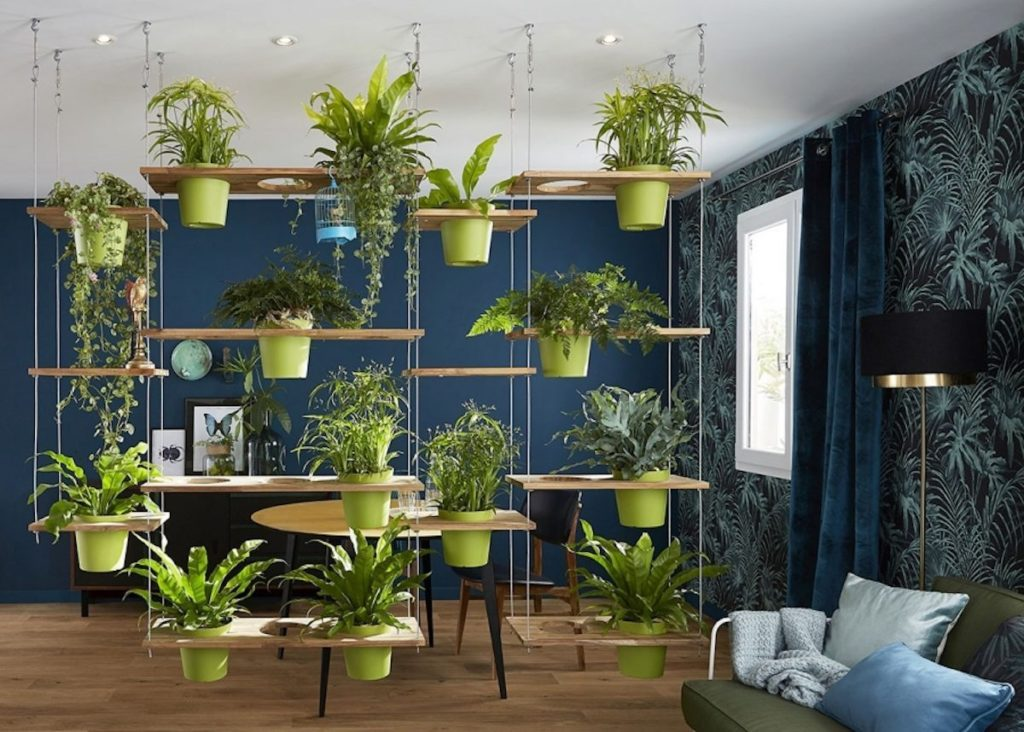hanging indoor garden for small apartments
