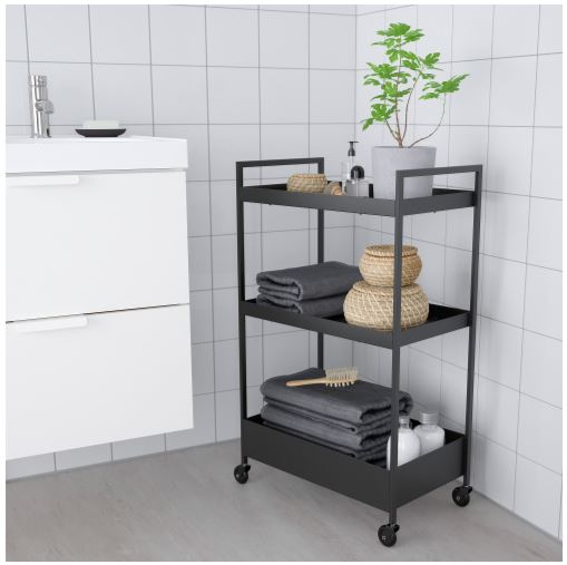 ikea black utility storage cart