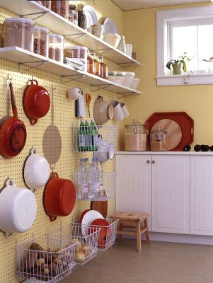 Ceiling To floor pegboard wall