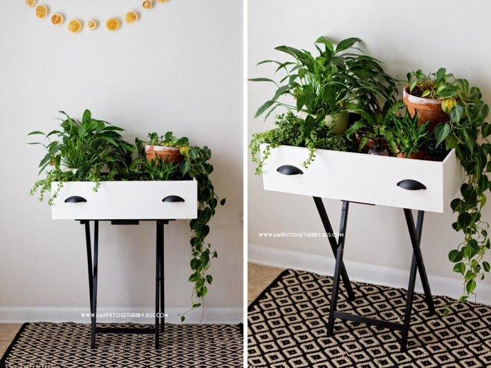 re-purposed Draw Garden DIY