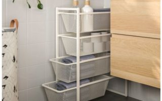 slim storage basket drawers from ikea