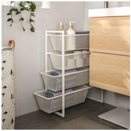 slim storage basket drawers from ikea