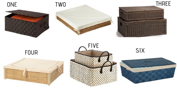 stylish under-bed storage baskets