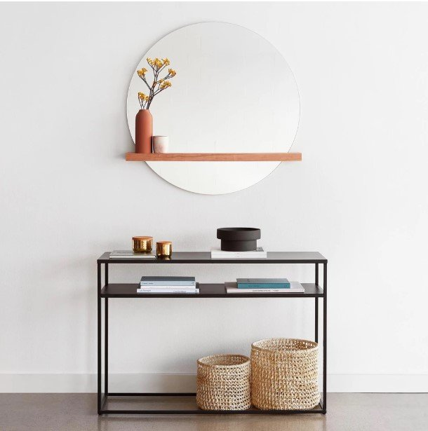 Bellavista wall Mirror with Shelf