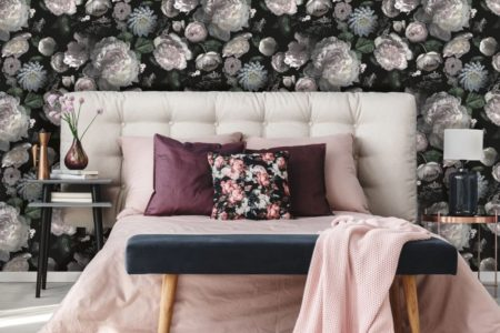 floral wallpaper for small rooms