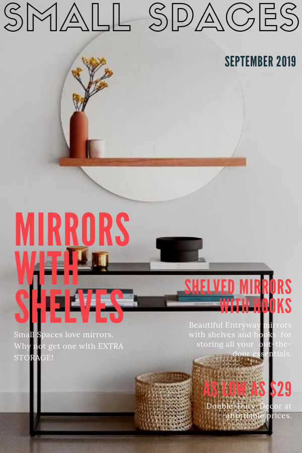 mirrors with shelves and hooks pinterest