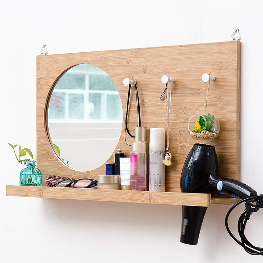 Nordic mirror with shelves and hooks