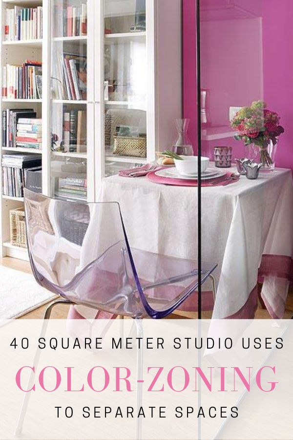 color zoning to separate space in a studio apartment pinterest