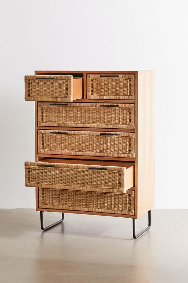 Dresser with rattan drawers from urban outfitters