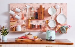 kitchen pegboard storage for small kitchens