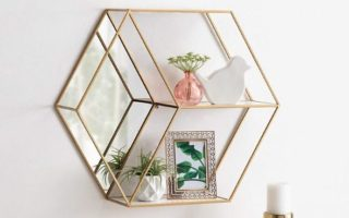 mirrors with shelves and hooks