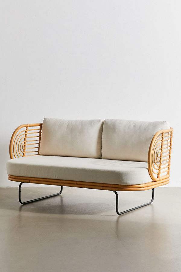 indoor modern rattan sofa settee for living room