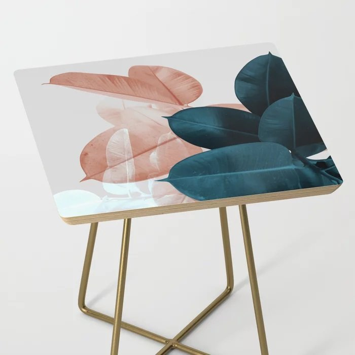 leaf art on side table society 6.
