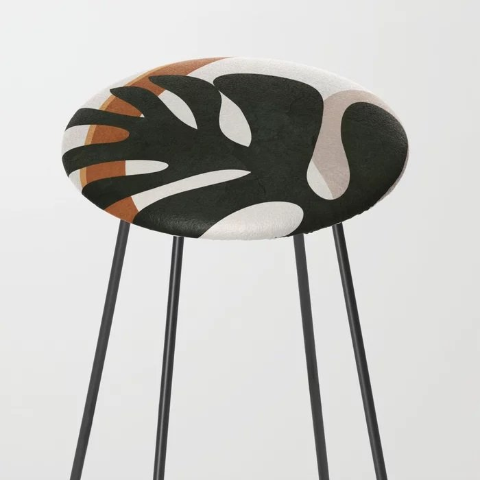 leaf  pattern counter stool