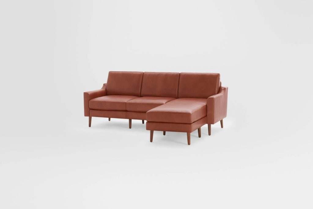 Sustainable leather sectional sofas for small spaces