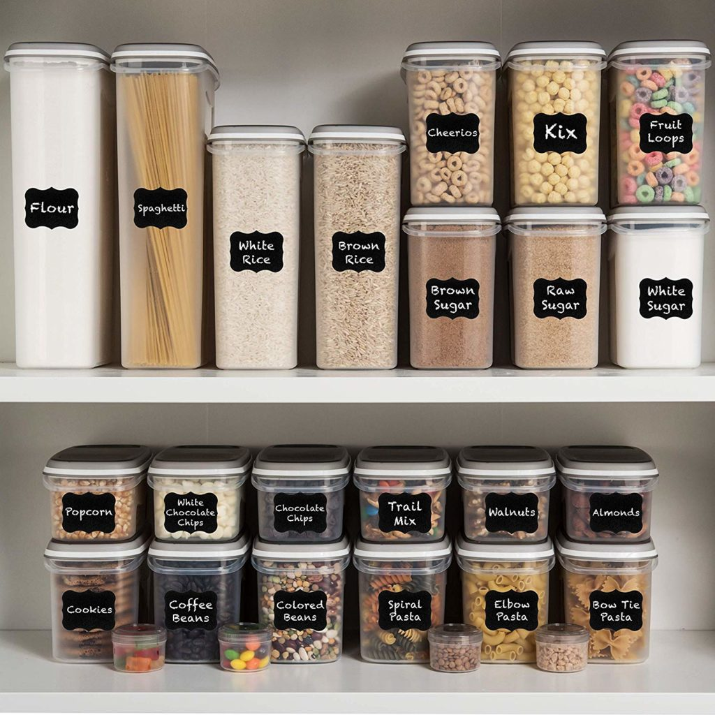 stackable space saving food containers