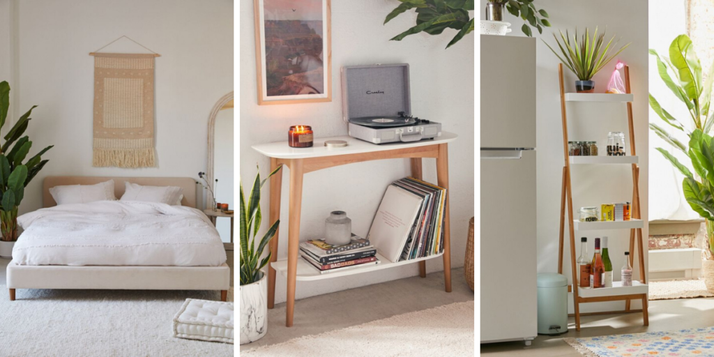 where to buy minimalist Scandinavian furniture for small spaces urban outfitters