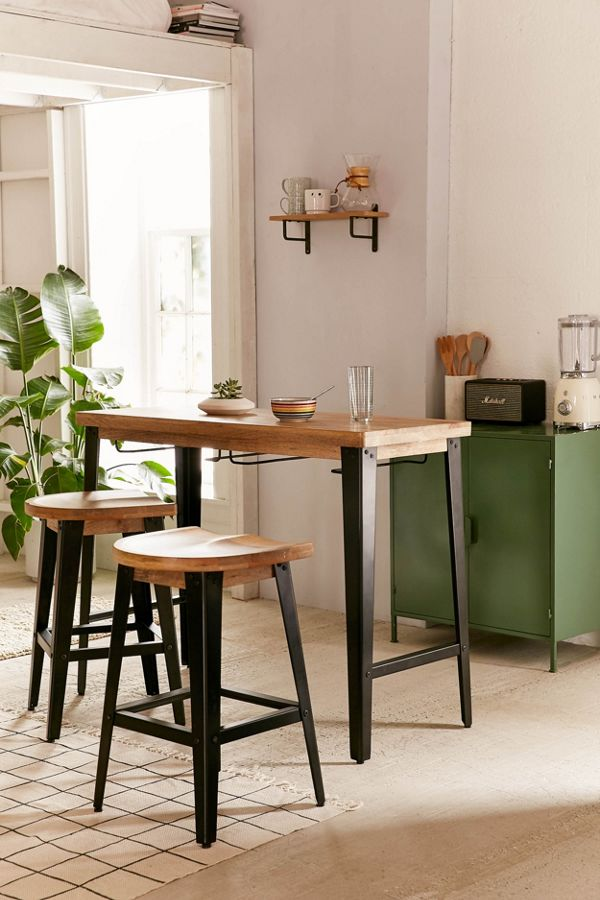 wooden breakfast bar for small kitchens