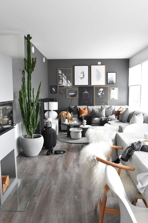 These Dark Accent Walls Break All The Small Space Design Rules