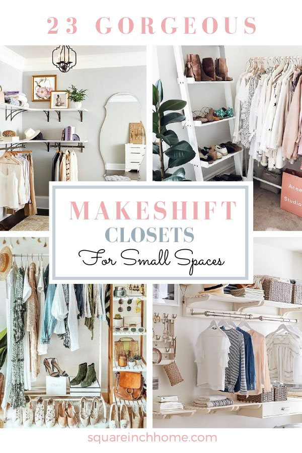makeshift diy closet for small bedrooms