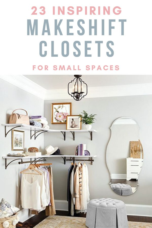 Makeshift closet ideas for small bedrooms