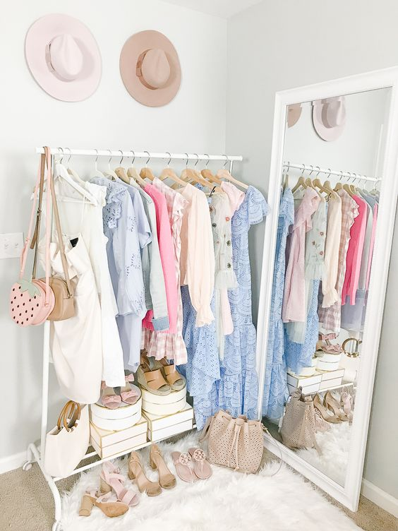 small space solutions for no closet storage